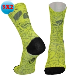 CALZINI MB WEAR FUN YELLOW SKULL - Calzini Leggeri -