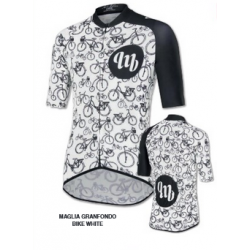 MAGLIA MB WEAR GRANFONDO UNISEX BIKE WHITE