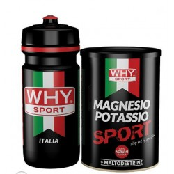 WHY MAGNESIO POTASSIO SPORT + BORRACCIA  con carboidrati