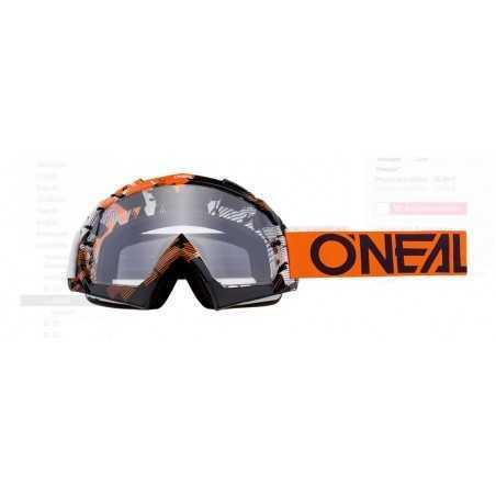 O`Neal B-10 Goggle PIXEL orange/white - clear MASCHERINA